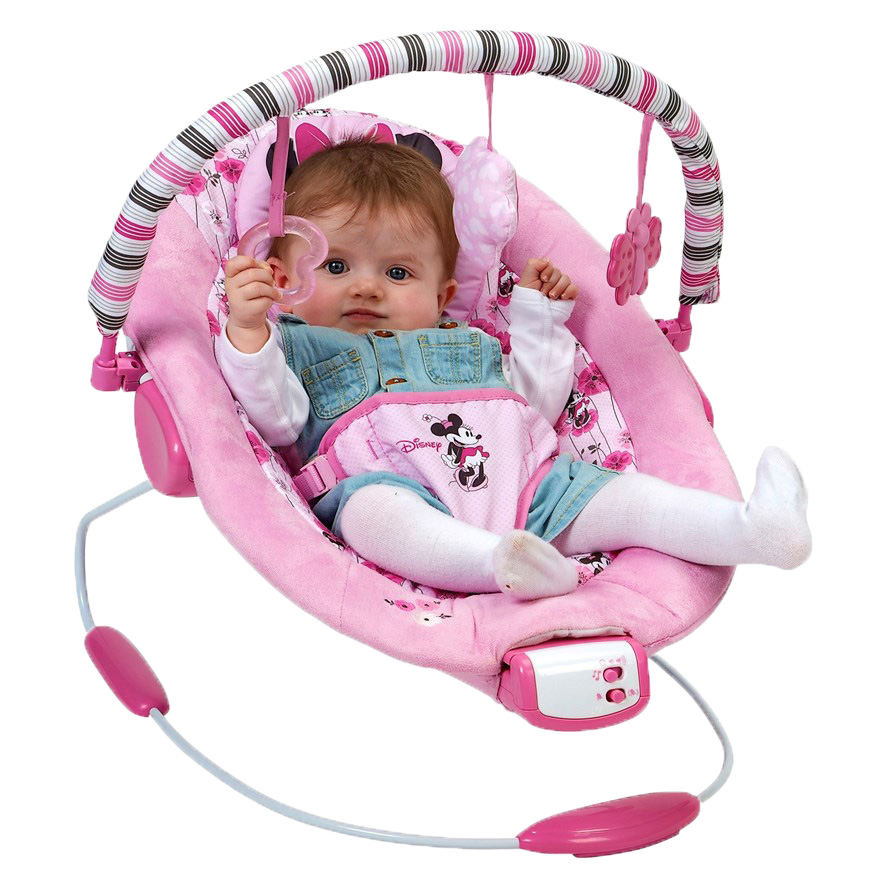 Disney Minnie Mouse Pink Baby Girl Newborn Vibrating
