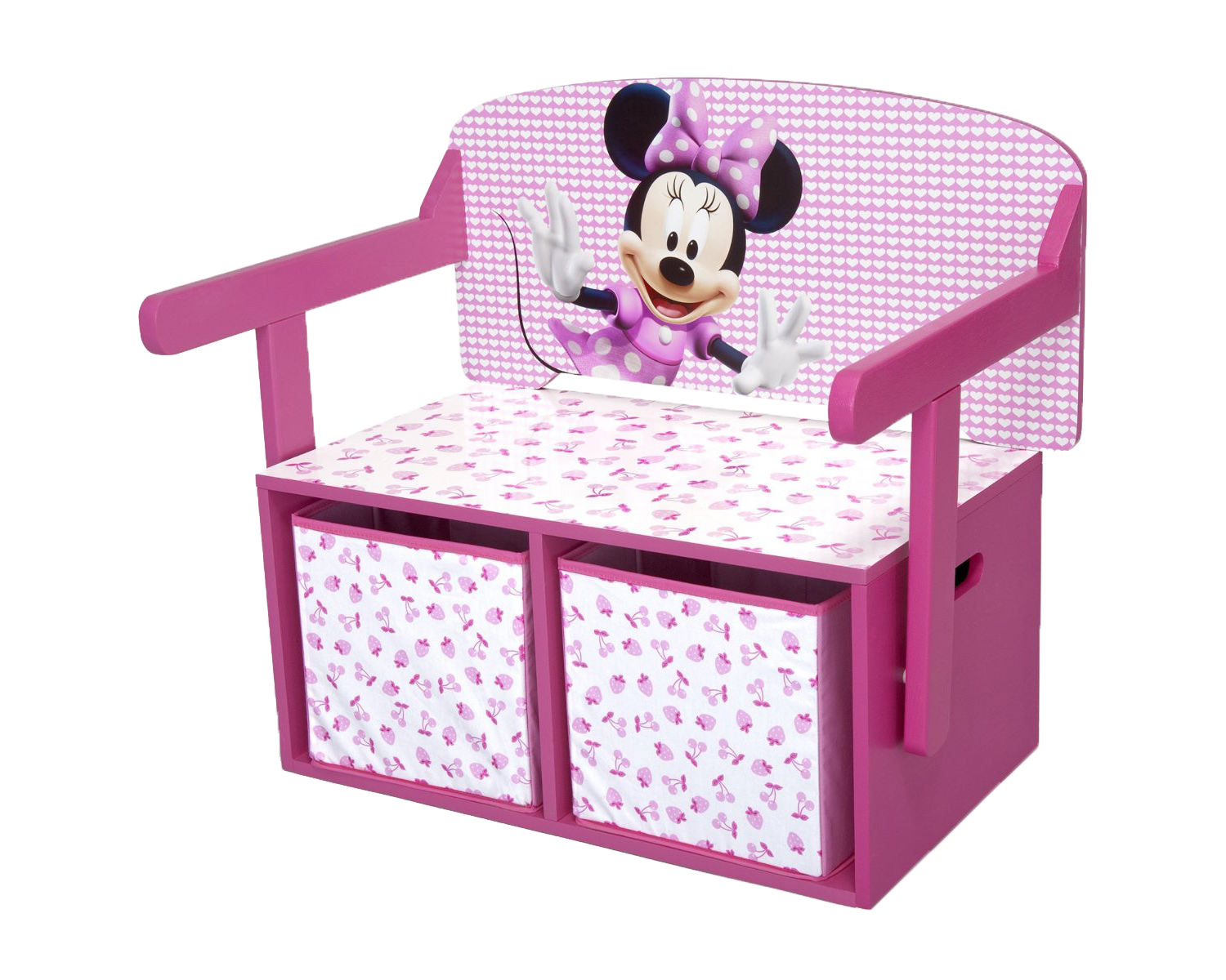 Minnie Mouse Storage Box Desk Wooden Toy Chest Girls Kids Bedroom Furniture P