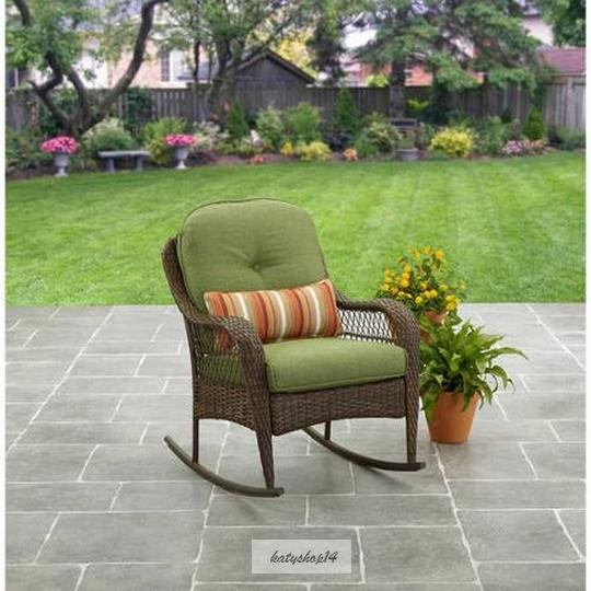 ... Rocking Chair All Weather Outdoor Wicker Rocker Porch Furniture Seat