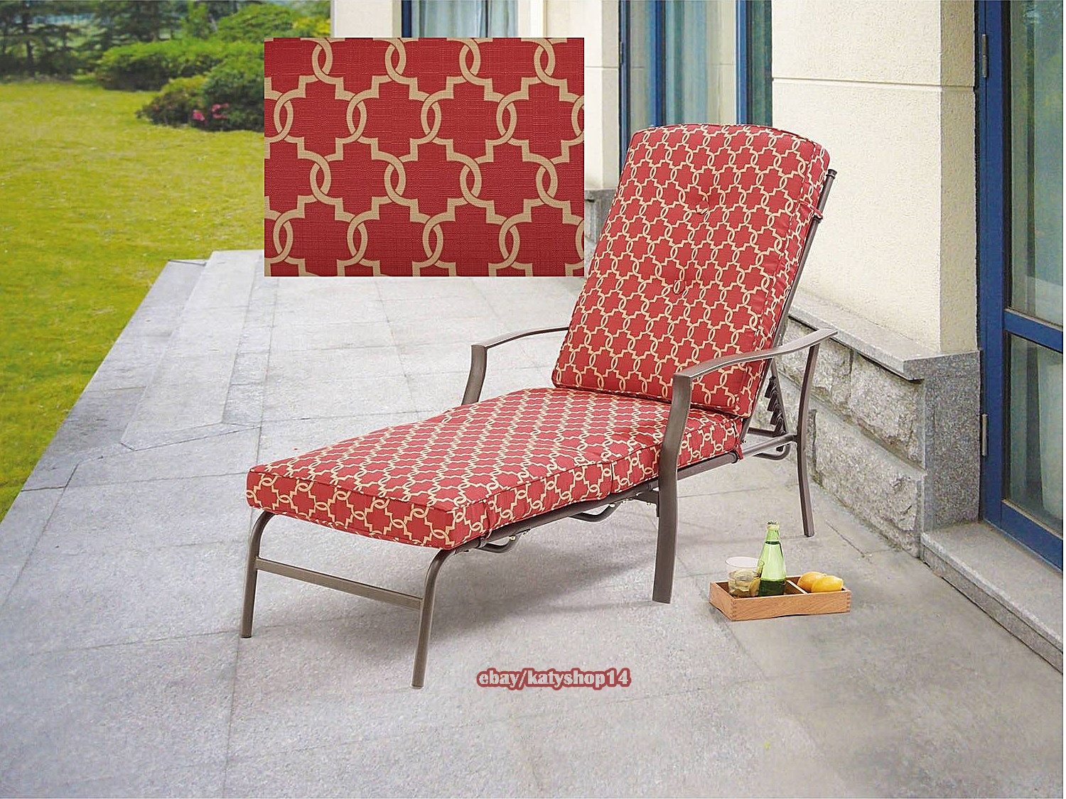 Patio chaise lounge outdoor relax chair adjustable back for Chaise relax