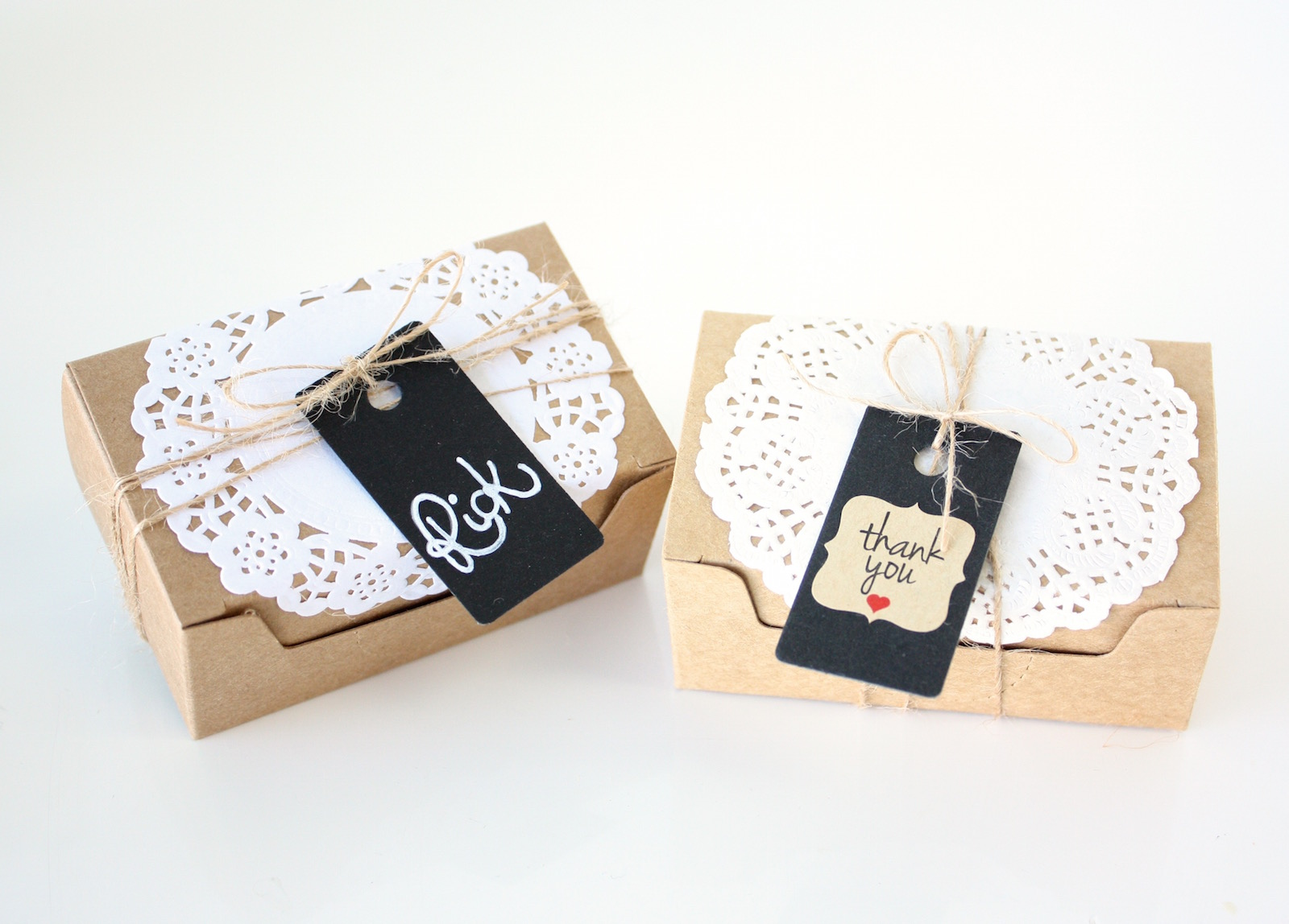 Gift Tags For Wedding Favors Australia : ... Kraft Favour Boxes Doilies Tags & Twine Wedding Party Favor Rectangle