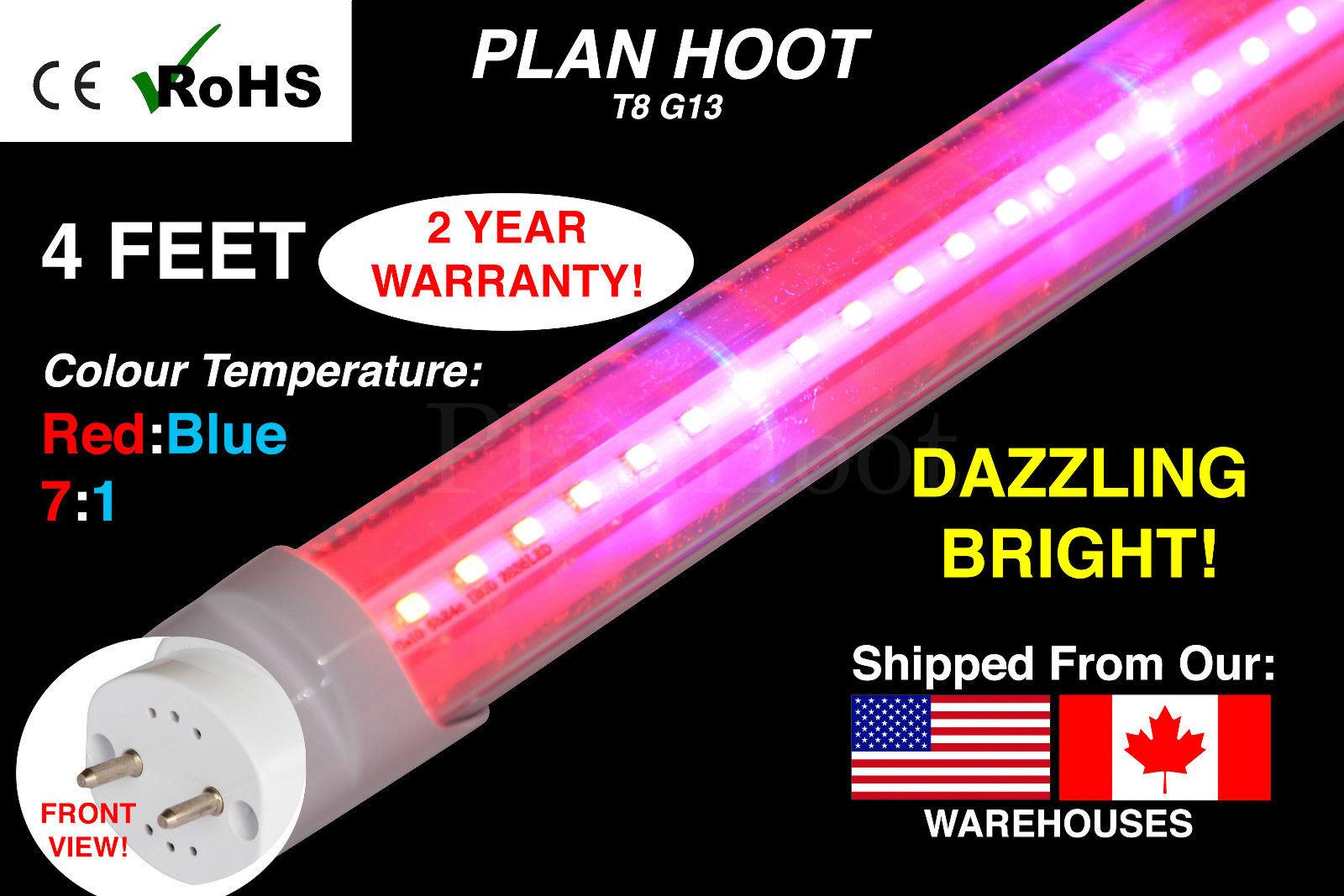 T8 G13 Led Grow Light Full Spectrum For Indoor Plants Veg