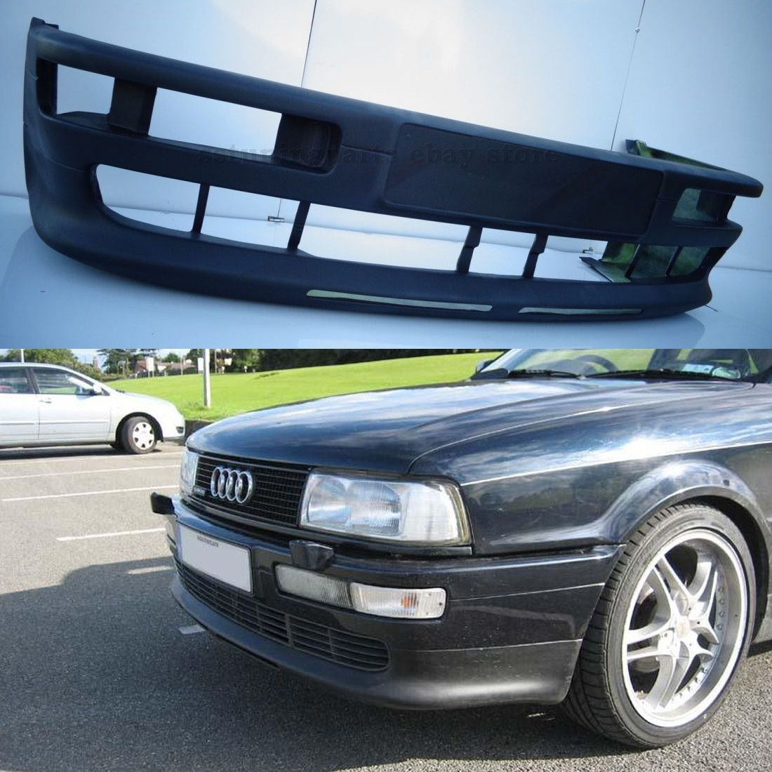 audi 80 b4 coupe front s2 style bumper spoiler. Black Bedroom Furniture Sets. Home Design Ideas