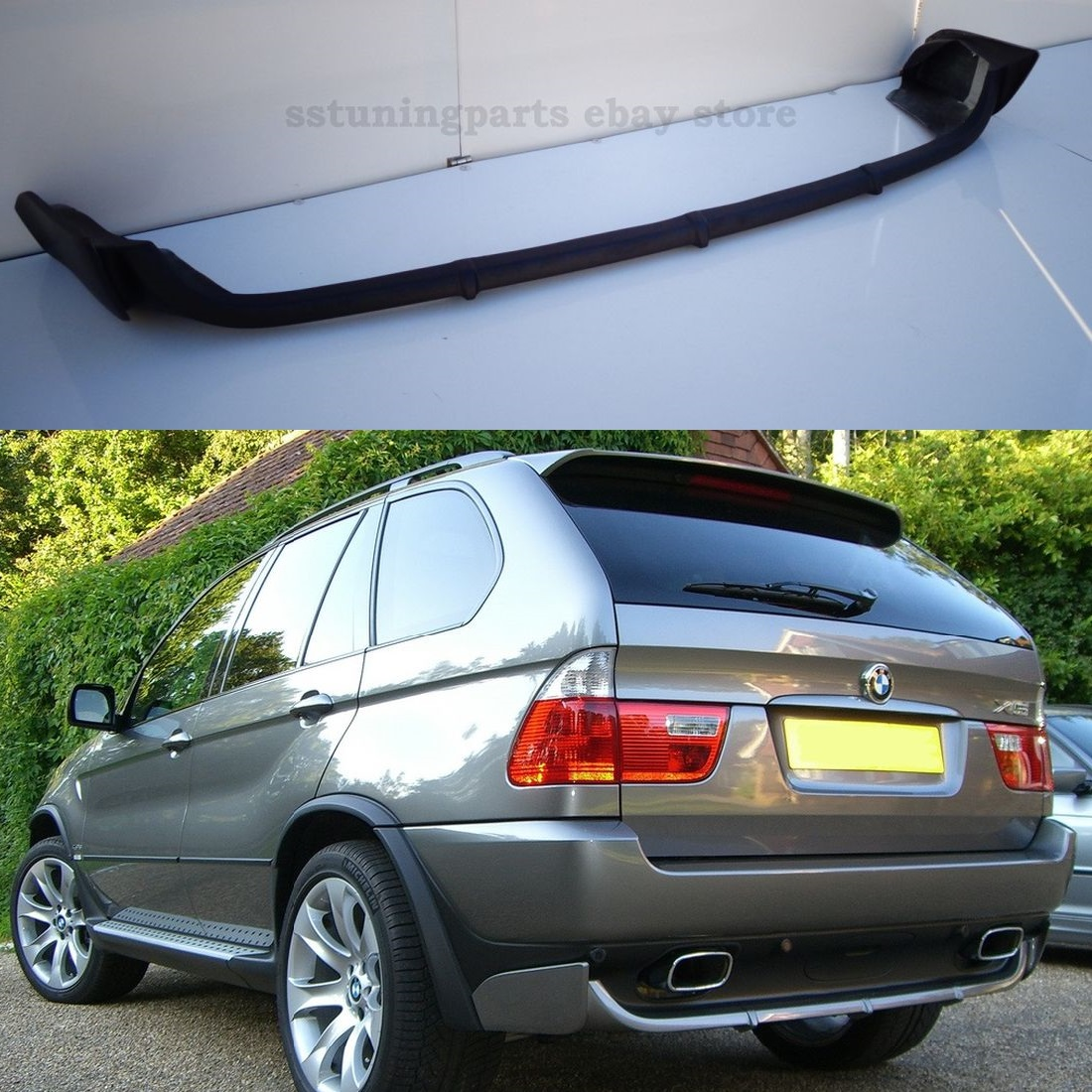 bmw e53 x5 2000 2006 rear bumper spoiler tuning lip addon. Black Bedroom Furniture Sets. Home Design Ideas