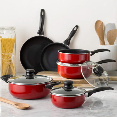Kitchen Set Pots And Pans: Cookware Set Teflon Pots And Pans Kitchen Glass Lids Non