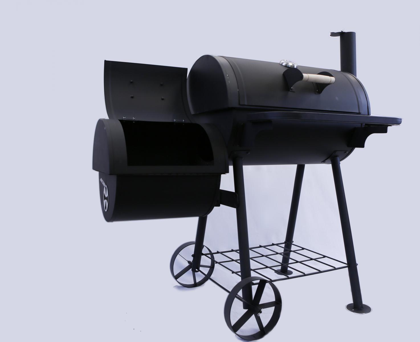 black superb bbq charcoal grill barbecue smoker garden outdoor cooking steel ebay. Black Bedroom Furniture Sets. Home Design Ideas