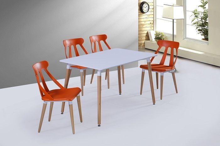 square dining room table set and 4 6 chairs meeting room furniture