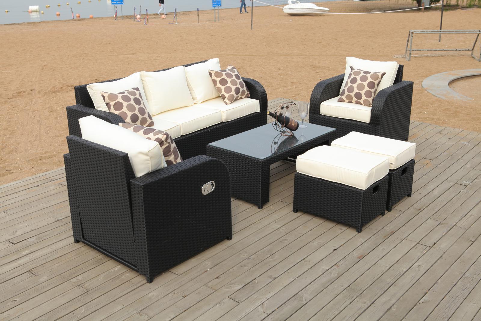 Lotus Rattan Garden Furniture Set Sofa Reclining Chairs Conservatory Outdoor Ebay