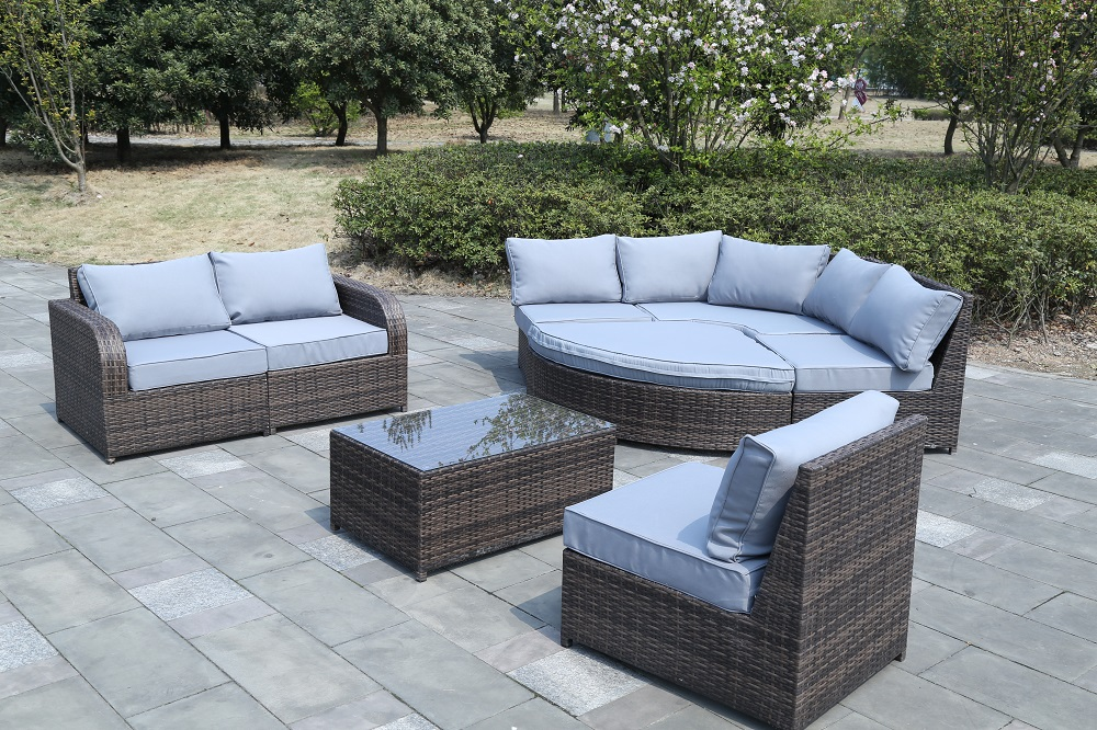 RATTAN GARDEN FURNITURE SET SOFA MODULAR PATIO CONSERVATORY OUTDOOR DAYBED