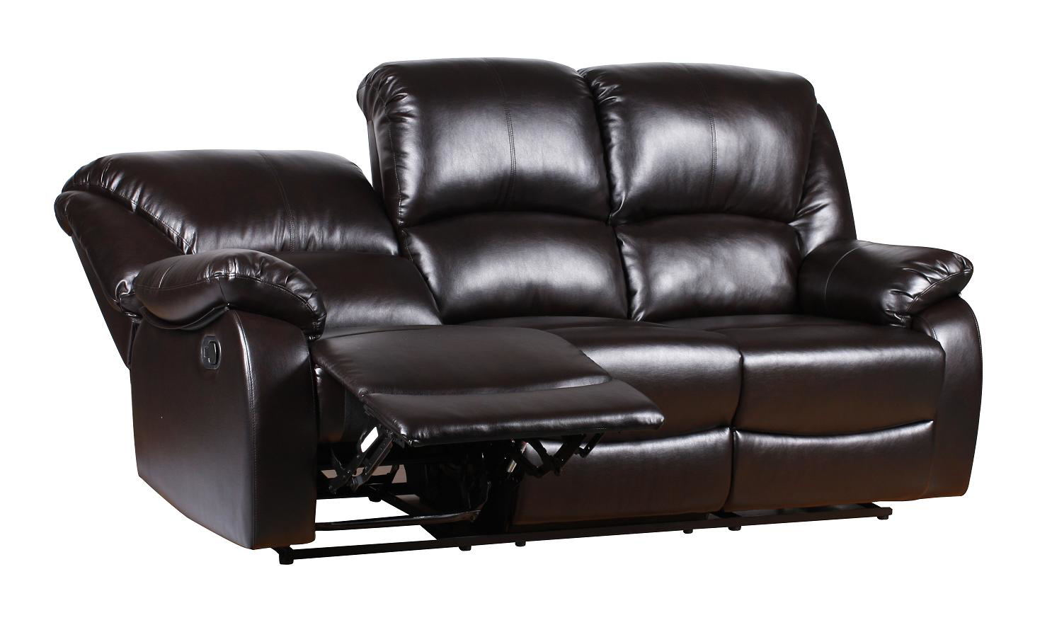 New Luxury Valencia Bonded Leather Recliner Sofa Suite