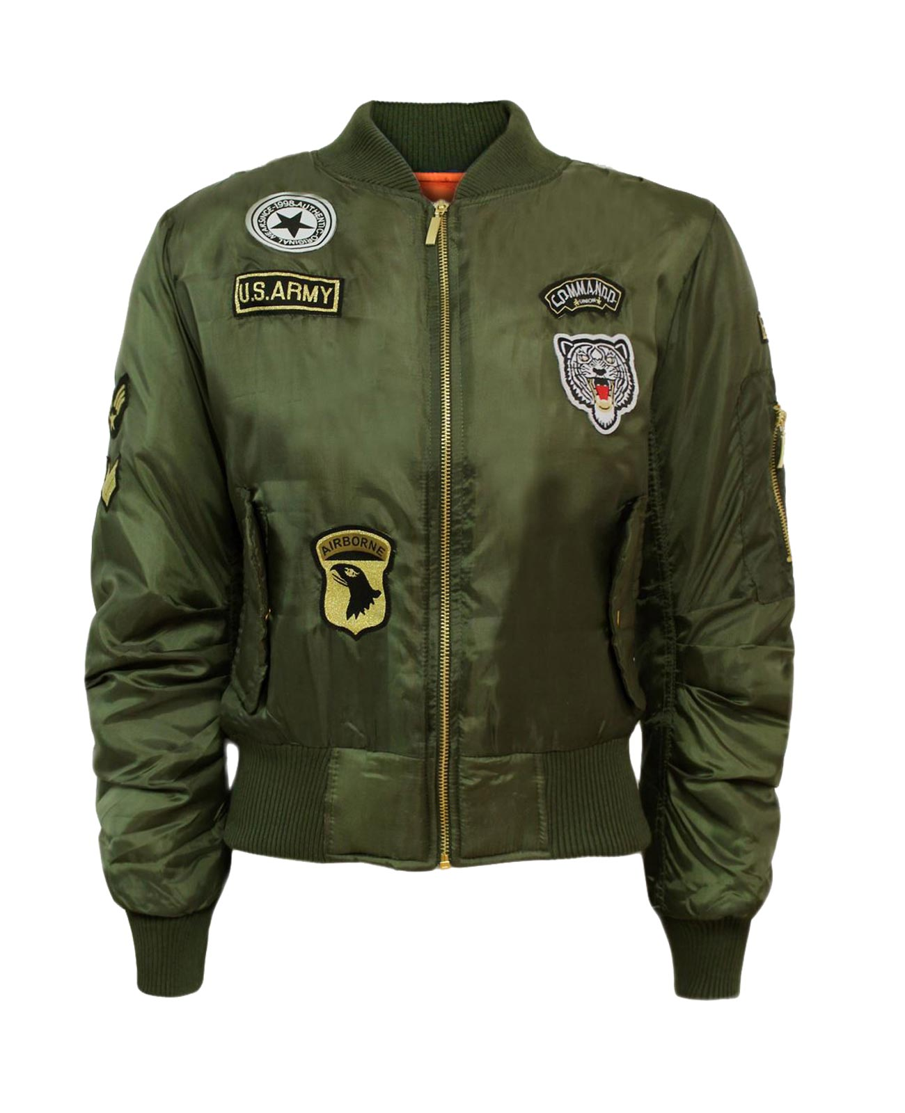women badge ma1 us air force army bomber zip up biker. Black Bedroom Furniture Sets. Home Design Ideas