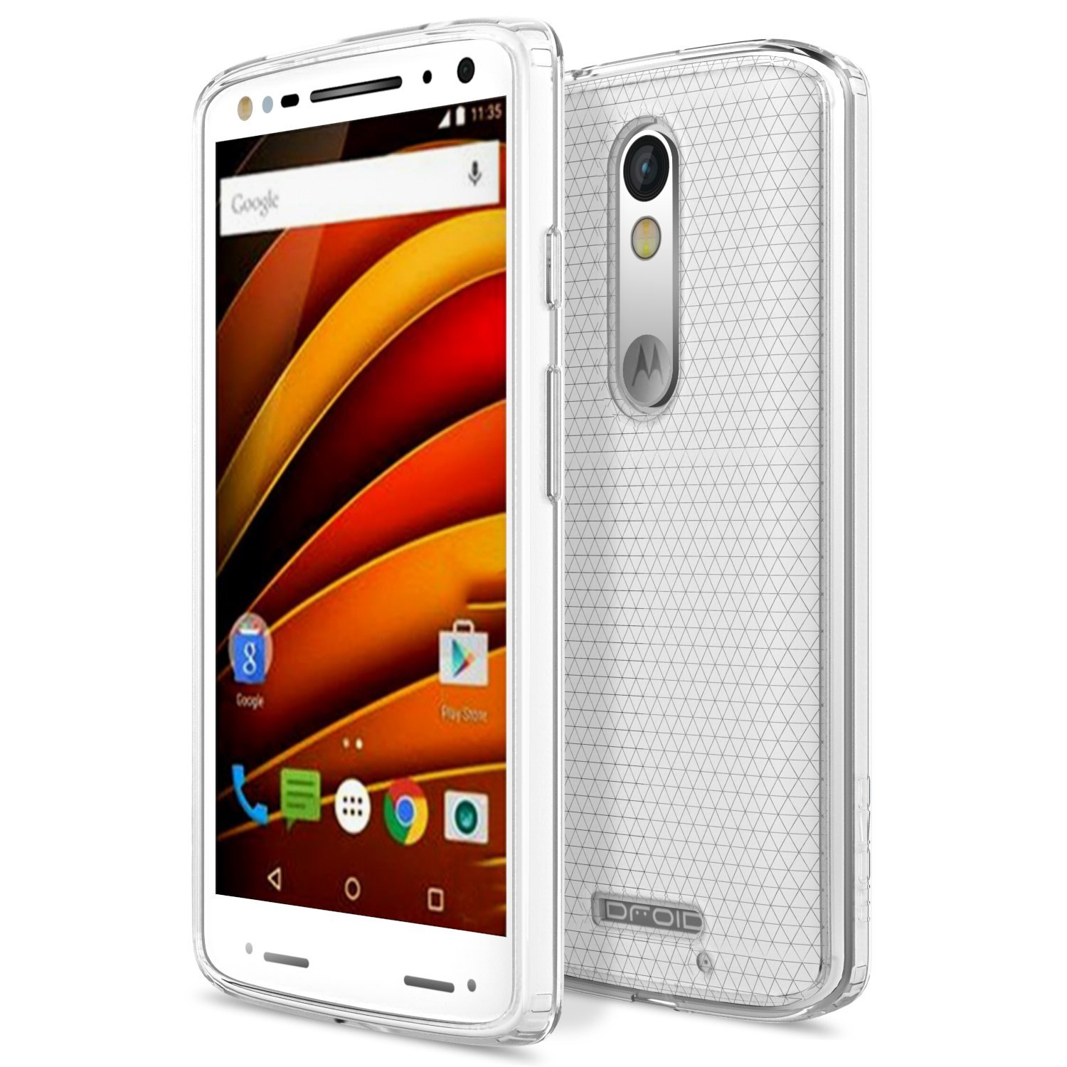 quality design e2e83 5e3ce Details about For Moto X Force Case Clear TPU Protective Case Cover For  moto X Force