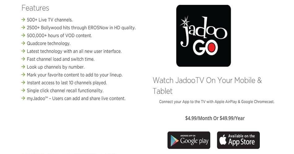 Details about Jadoo TV Jadoo 4 South Asian IP TV Box Indian Bangla Parsian  Pakistan TV Channel