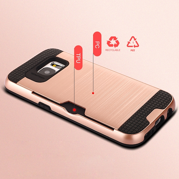 the latest 147f9 2b30c Details about Heavy Duty Shock Proof Card Slot Case Cover For Samsung  Galaxy S7 S7 Edge