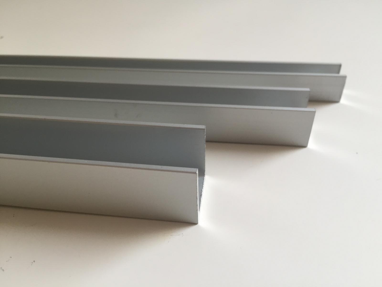 aluminium u kanal profil eloxiert verschiedene gr en ebay. Black Bedroom Furniture Sets. Home Design Ideas