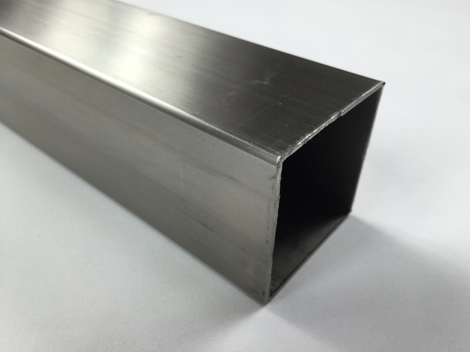 Stainless steel square brushed tube ebay