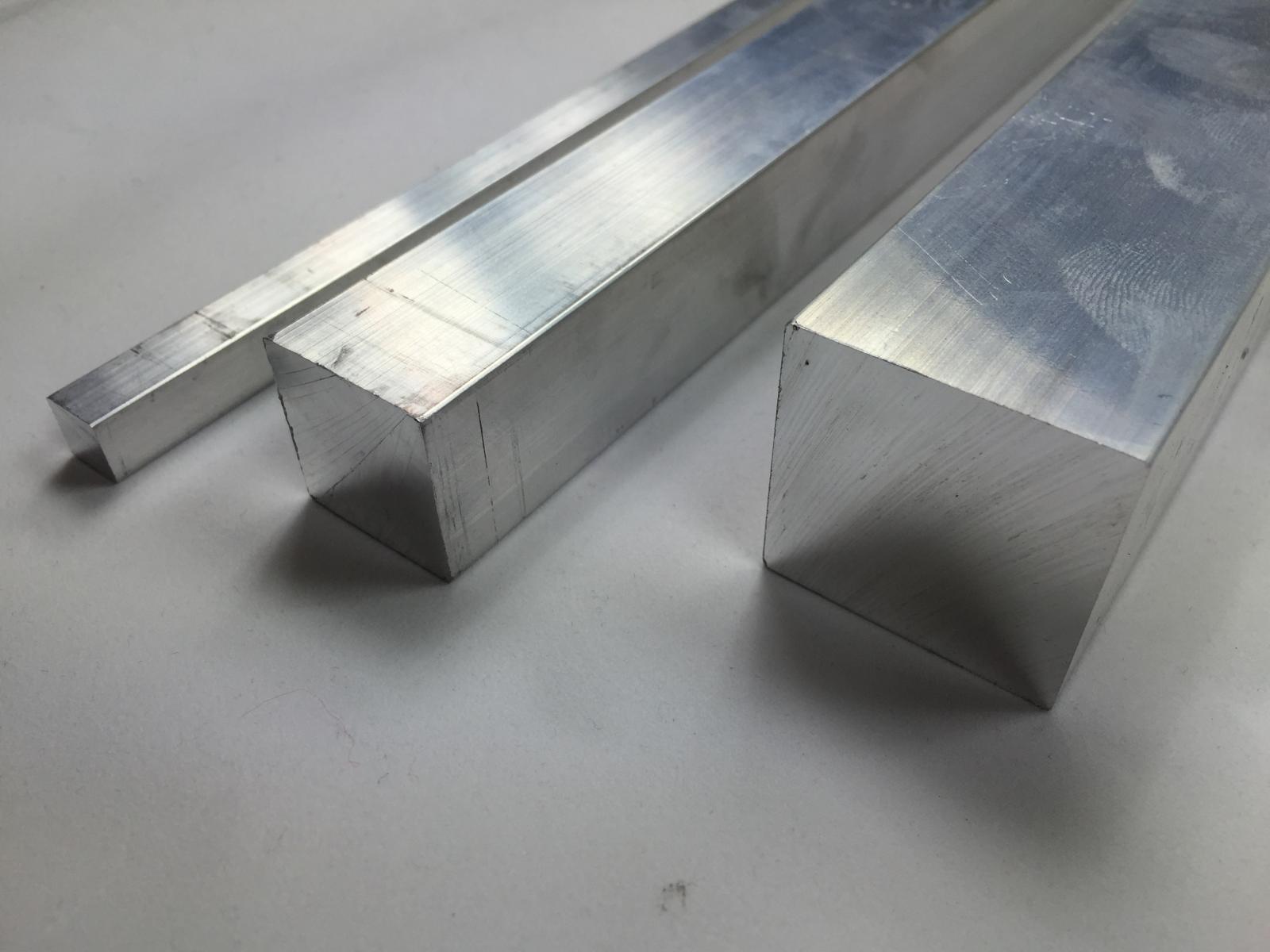 aluminium square bar diameter 8 300mm length 100 2000mm ebay. Black Bedroom Furniture Sets. Home Design Ideas