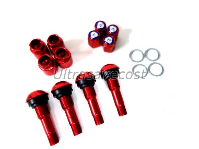 Red Car Aluminium Tubeless Wheel Tire Valve Stem Michelin ...