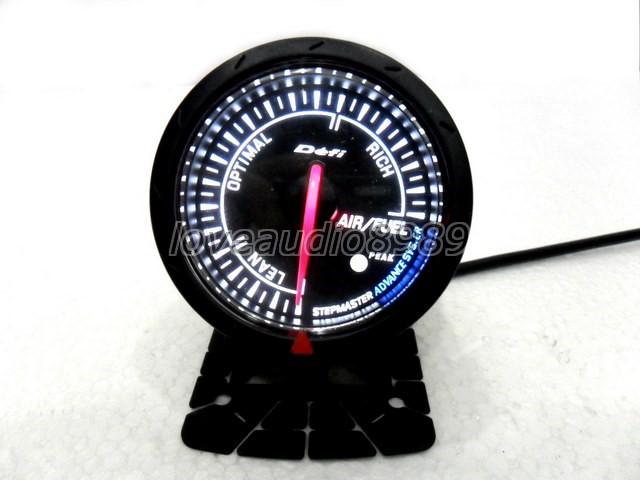 JDM Black Face Non Smoke Air / Fuel Ratio Car Gauge Meter ...