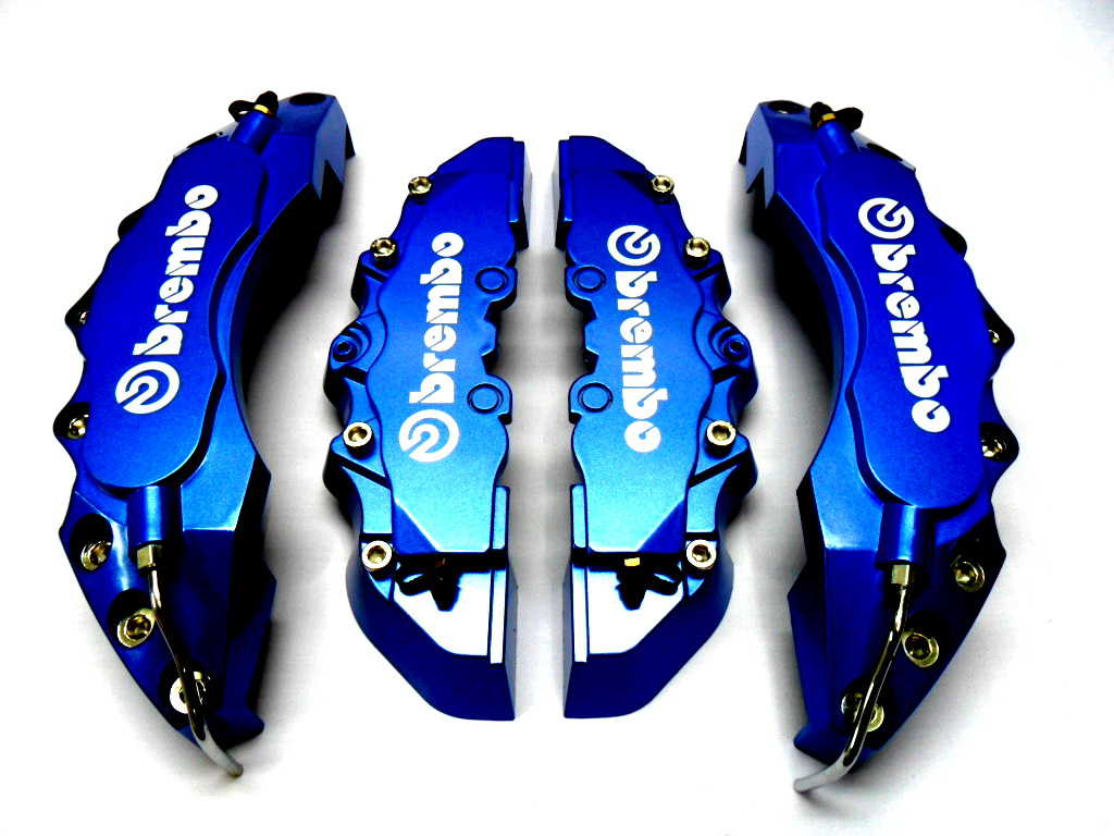 Plastic Measuring Caliper Covers : New big dark blue brembo look brake caliper covers kit