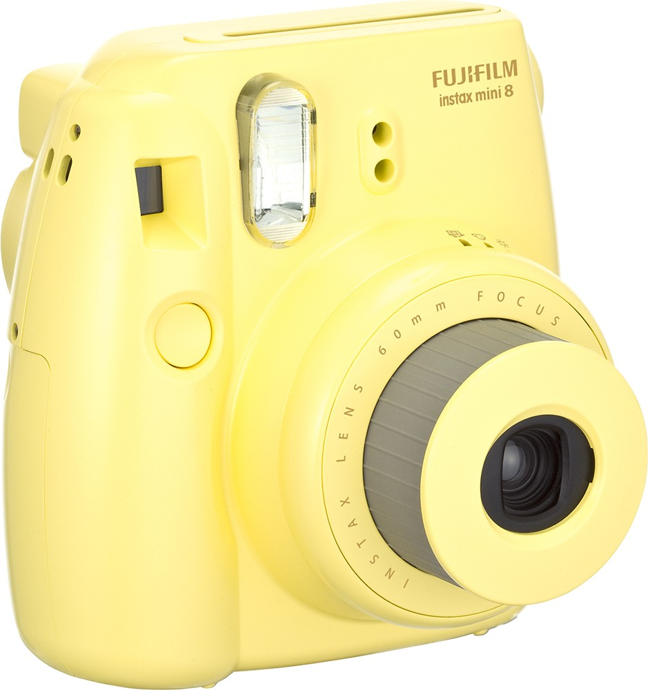 fujifilm fuji instax mini 8 instant film camera yellow. Black Bedroom Furniture Sets. Home Design Ideas