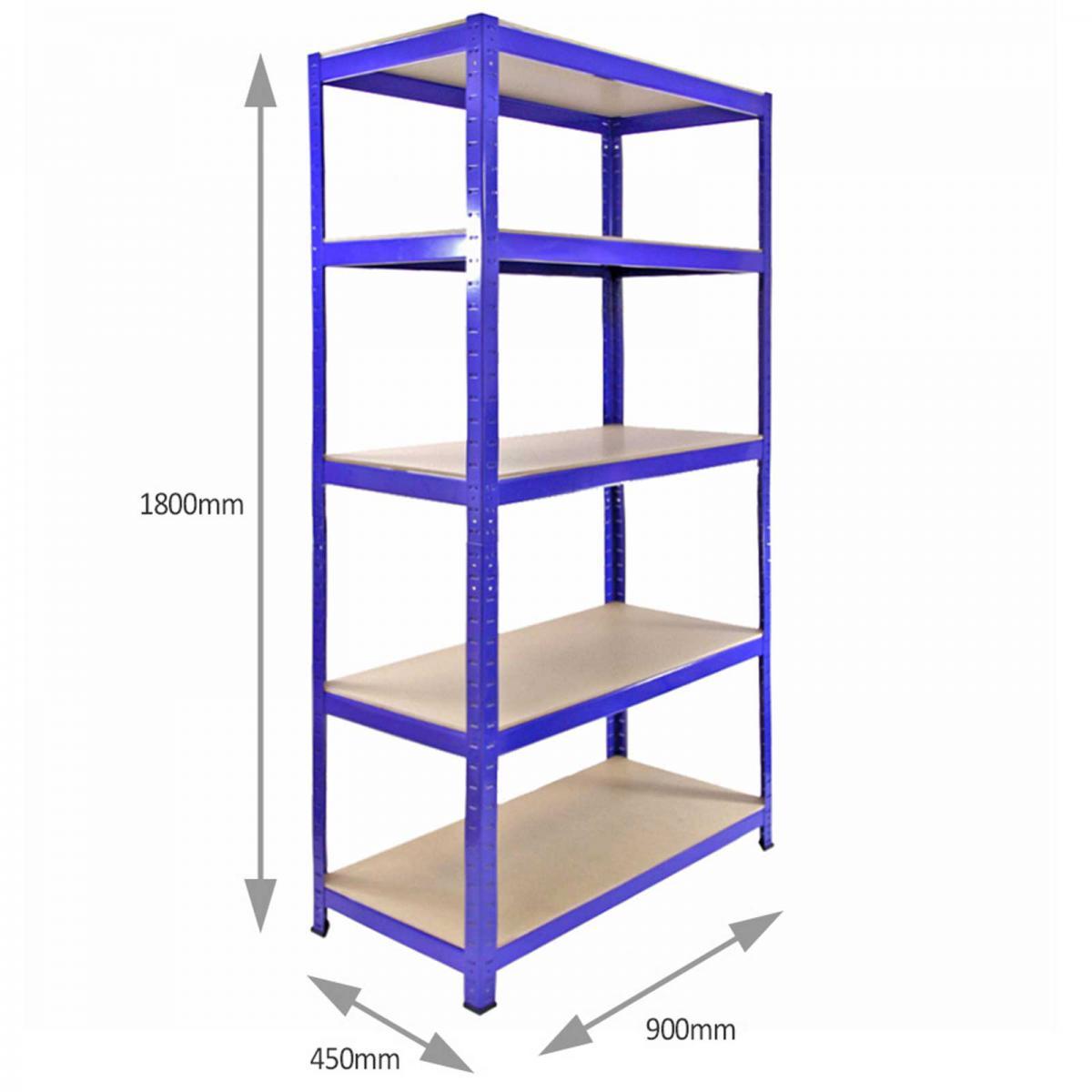 4 garage shelving units storage heavy duty metal racking. Black Bedroom Furniture Sets. Home Design Ideas
