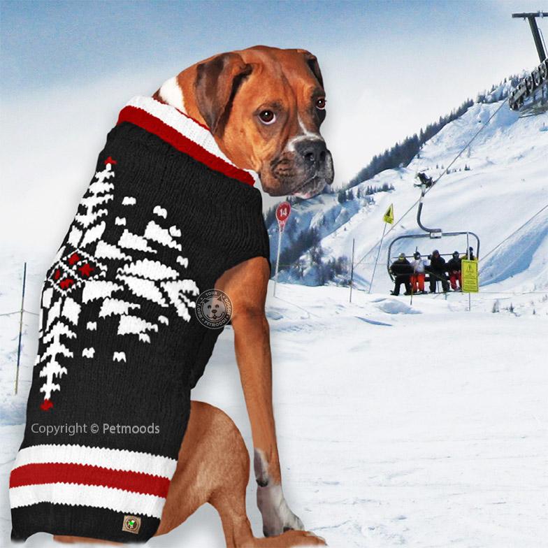 Chilly Dog Sweater Ski Team Handmade Organic Wool Xxs Xs S