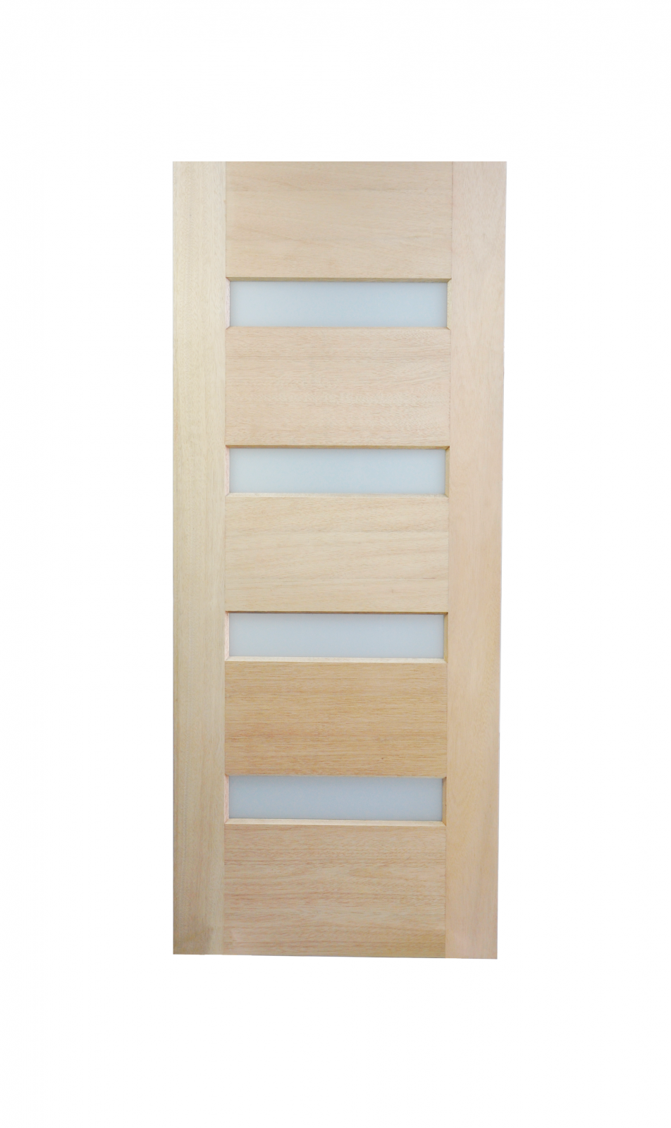 Horizontal small translucent glass engineered solid timber for Small entry door
