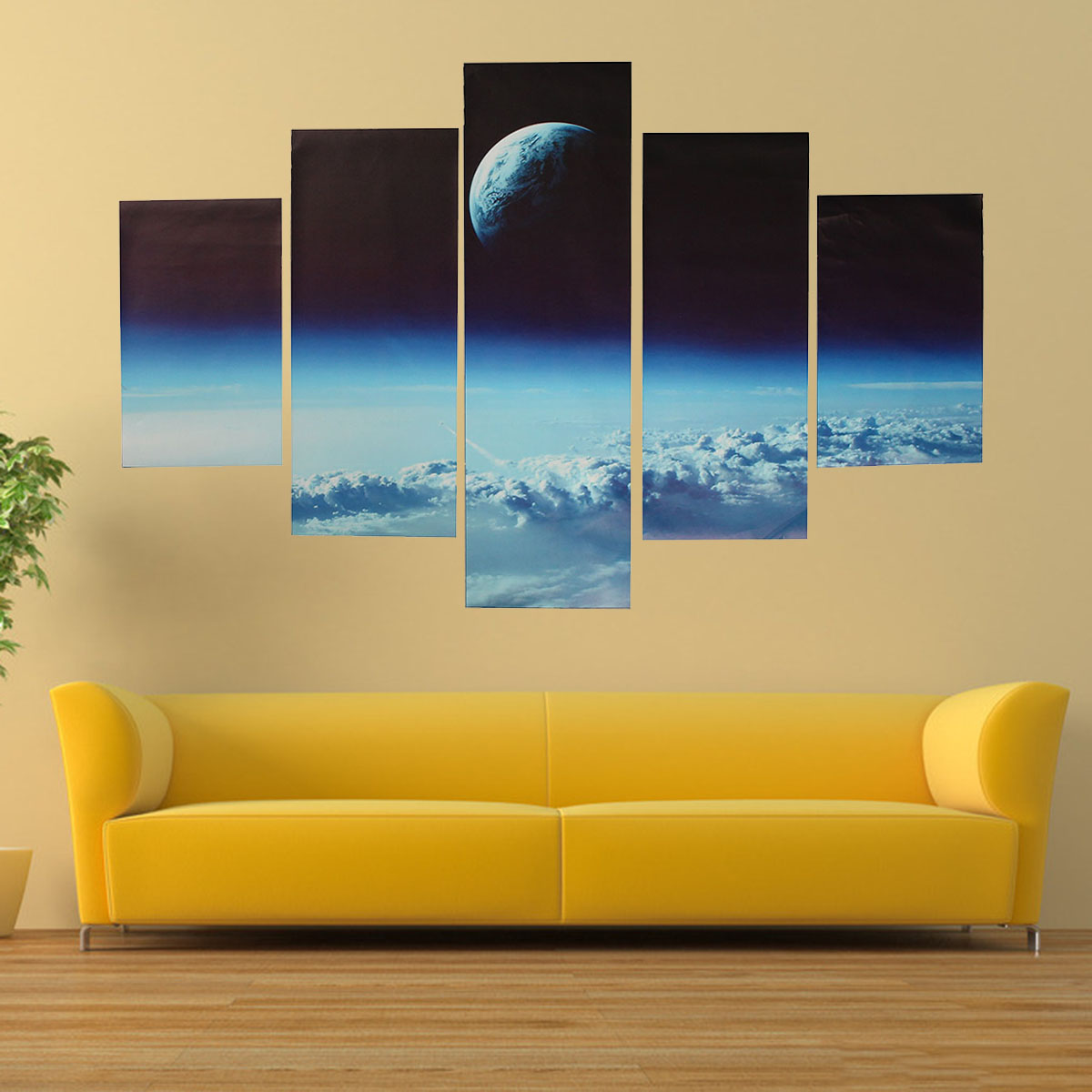 Modern Art Paintings For Living Room 5pc Living Room Canvas Painting Print Outer Space Modern Wall