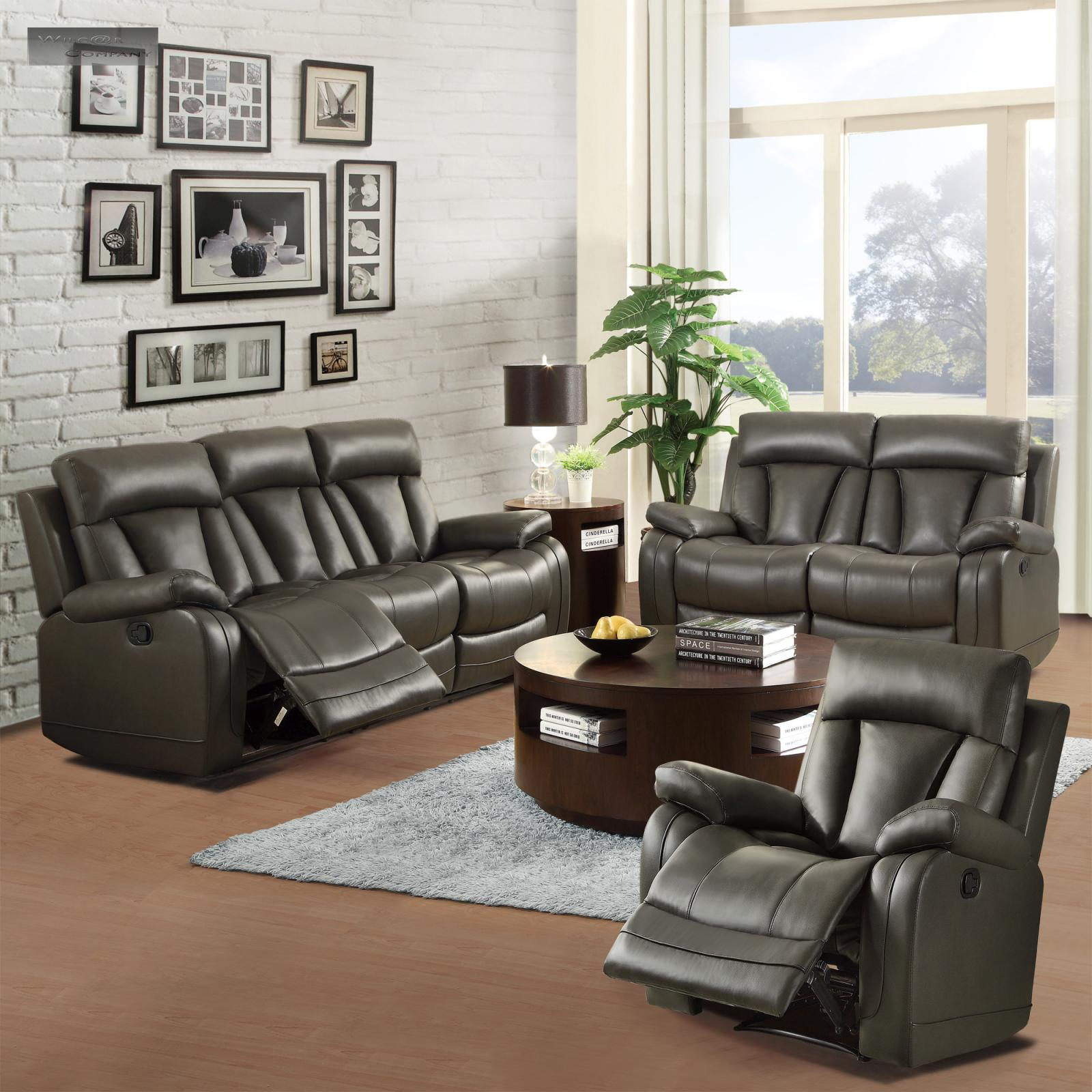 Black Living Room Furniture: NEW Black Leather Recliner Lazy Chair Furniture Living