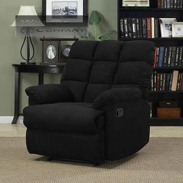 new black microfiber recliner wall hugger lazy chair furniture living room boy - Wall Hugger Recliner
