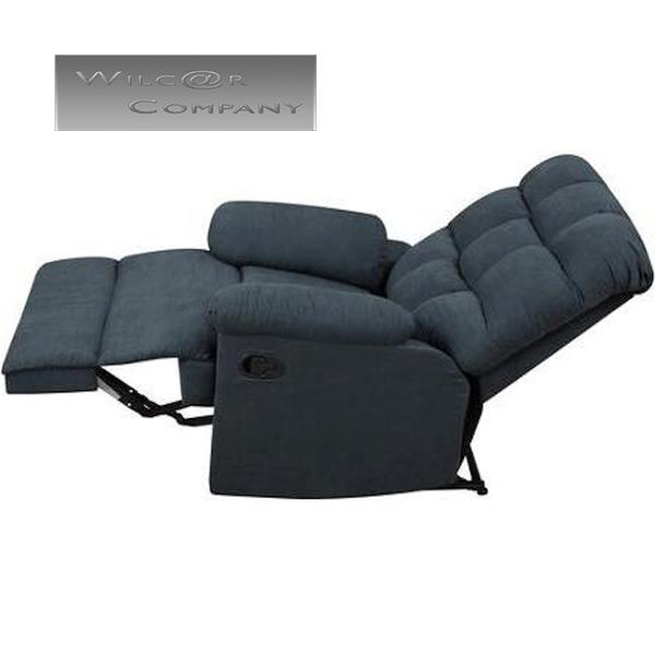 New Blue Microfiber Recliner Lazy Chair Wall Hugger