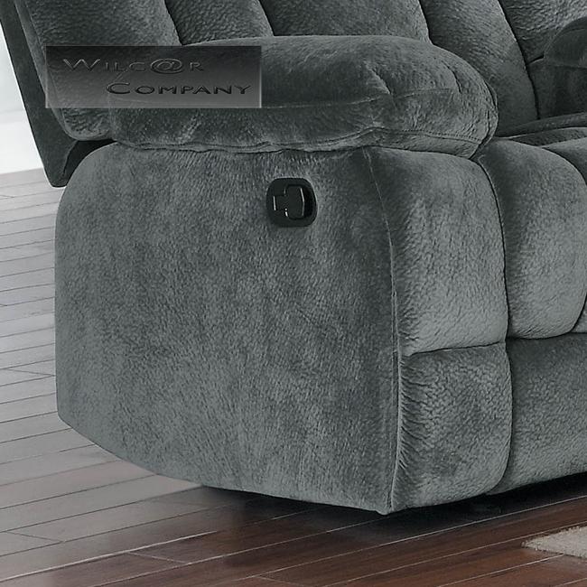New Grey Rocker Glider Double Recliner Loveseat Lazy Sofa