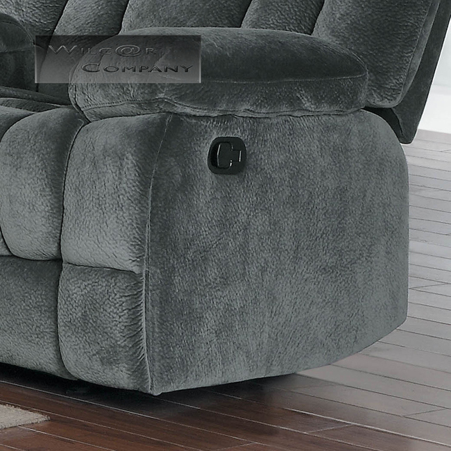 Lazy Boy Leather Sofas For Sale: New Grey Rocker Glider Double Recliner Loveseat Lazy Sofa