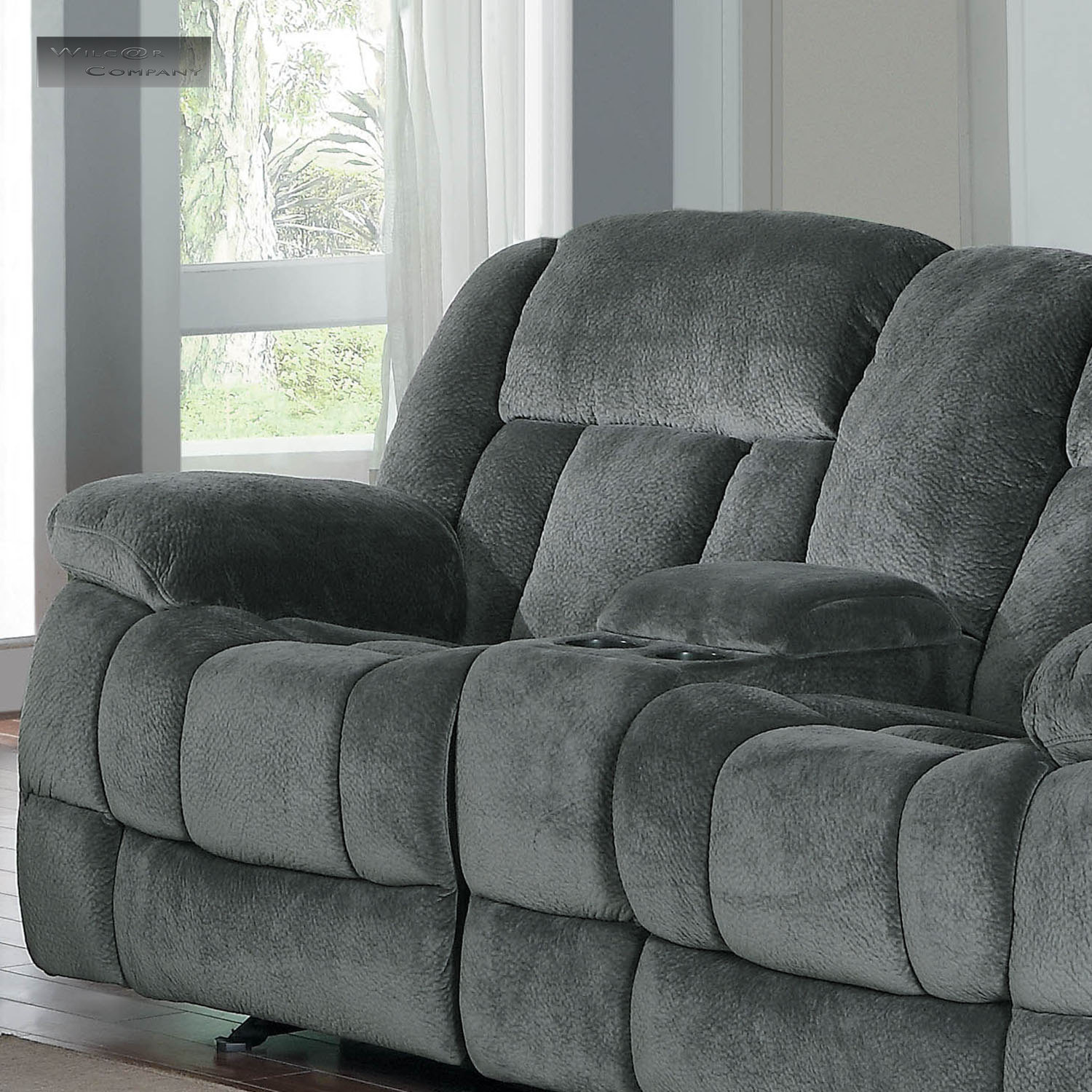 New grey rocker glider double recliner loveseat lazy sofa rocking reclining boy ebay Rocking loveseats