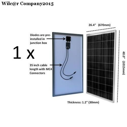 12 Volt 2 Battery Rv System : Watt solar panel kit battery controller charger system