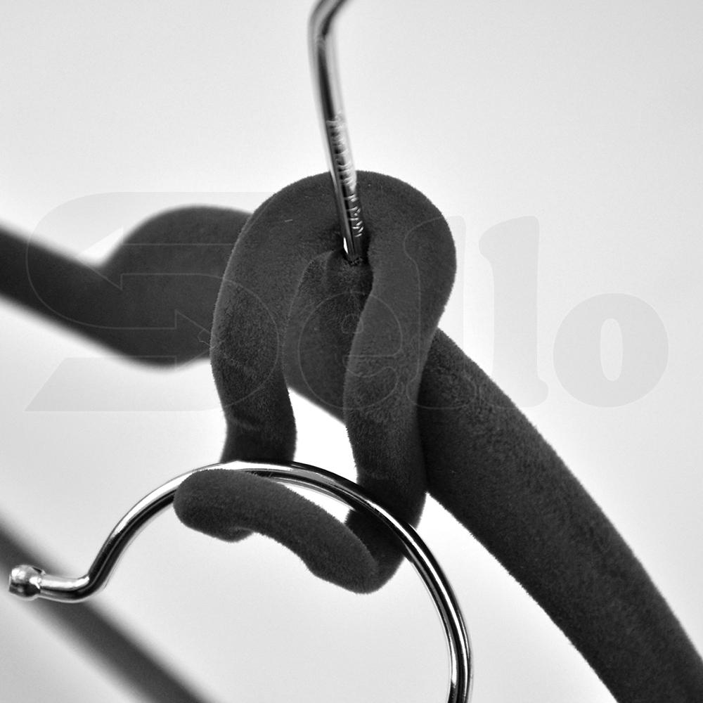 240 Pcs Black Nonslip Thin Velvet Hangers Coat Clothes