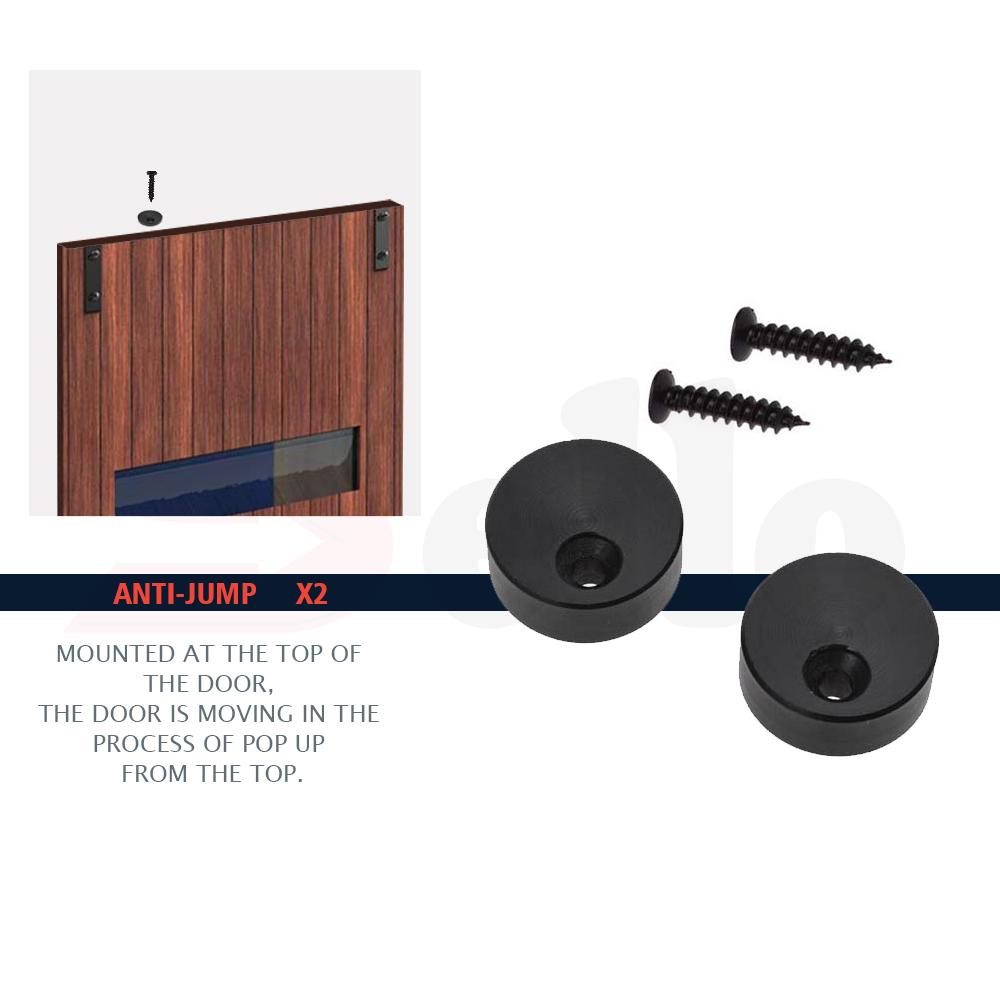 2m sliding barn door hardware no joint track set interior for Barn door rollers