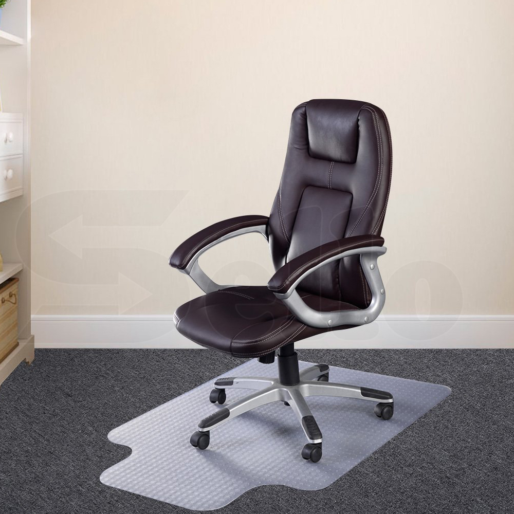 Carpet Floor Office Computer Work Chair Mat PVC Protector Plastic 1200x900mm