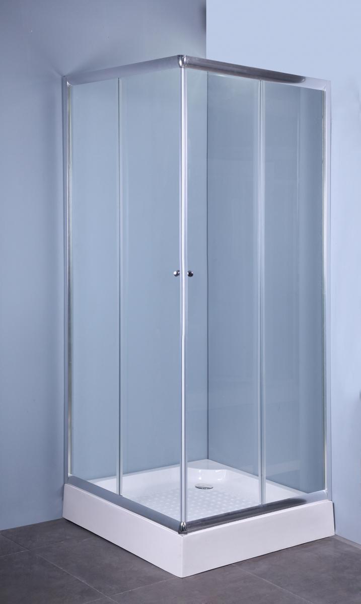 Box doccia cristallo scorrevole 5mm cabina trasparente - Chiusura doccia scorrevole ...