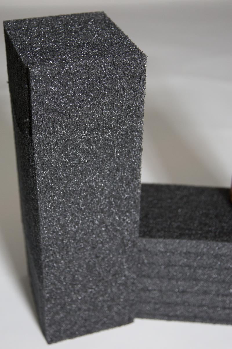 Black foam medium density pe packing padding shipping case