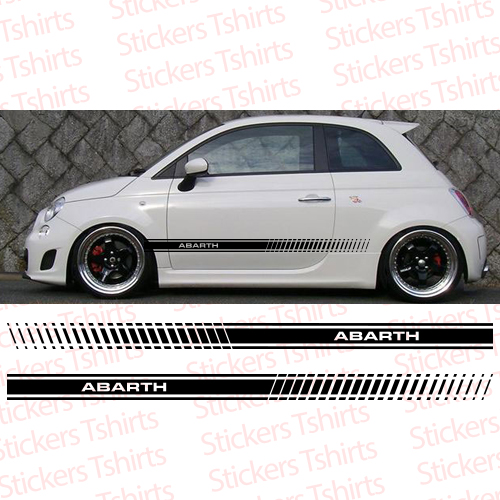 Fiat Abarth 500 Racing Stripe Side Car Truck Decal Vinyl