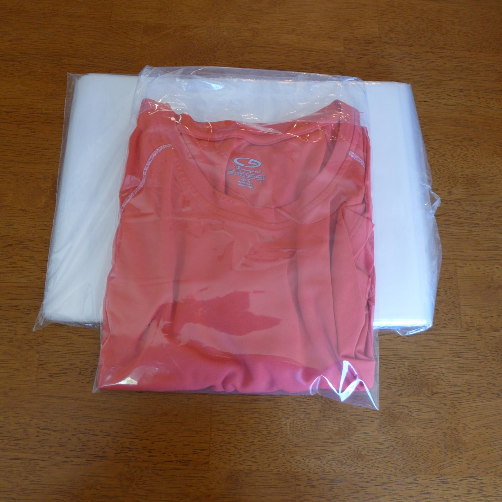 100 9 X 12 Poly Clear Plastic T Shirt Apparel Bags 2