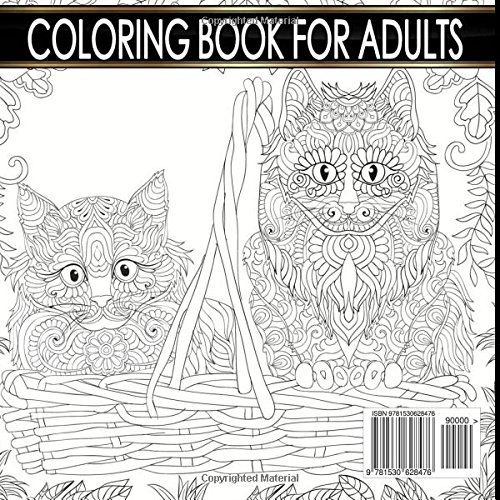 Art Therapy Relaxation Colorful Cats The Cat Lovers Adult