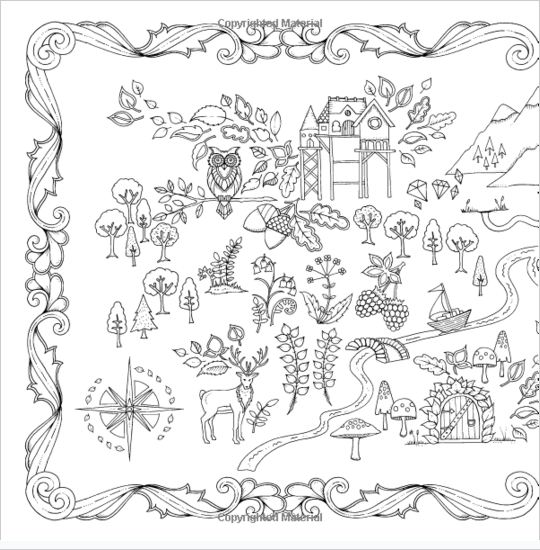 Adult Coloring Pages Enchanted Forest An Inky Quest