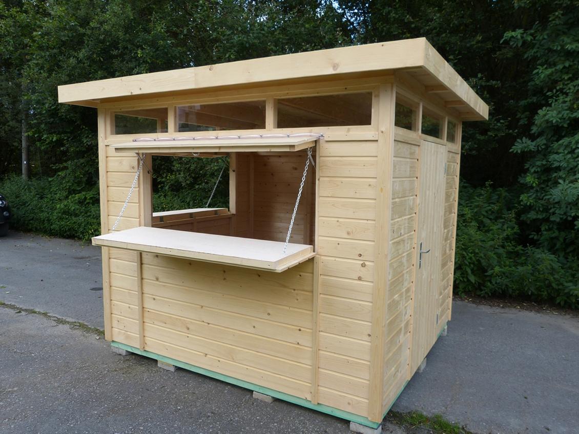 Wooden kiosk stall market stall kiosk ebay for Garden kiosk designs