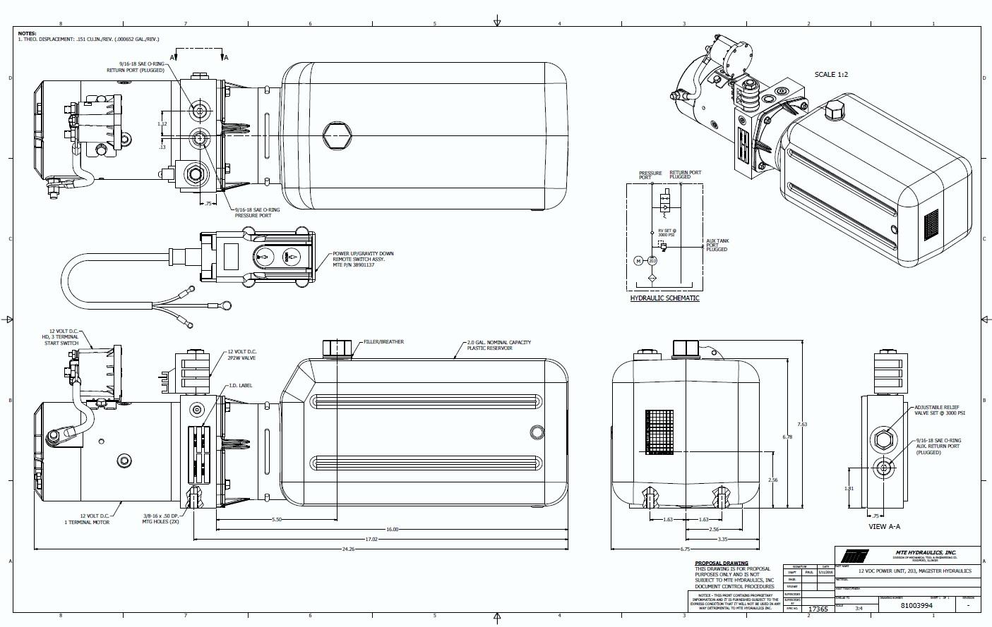 Hydraulic Power Unit Single Acting 12v Dc Dump Trailer 8