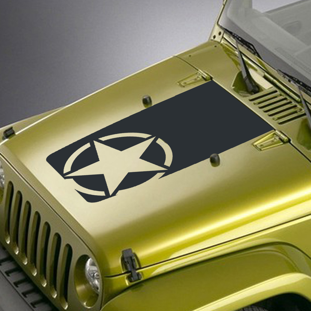 Army Jeep Star Decals