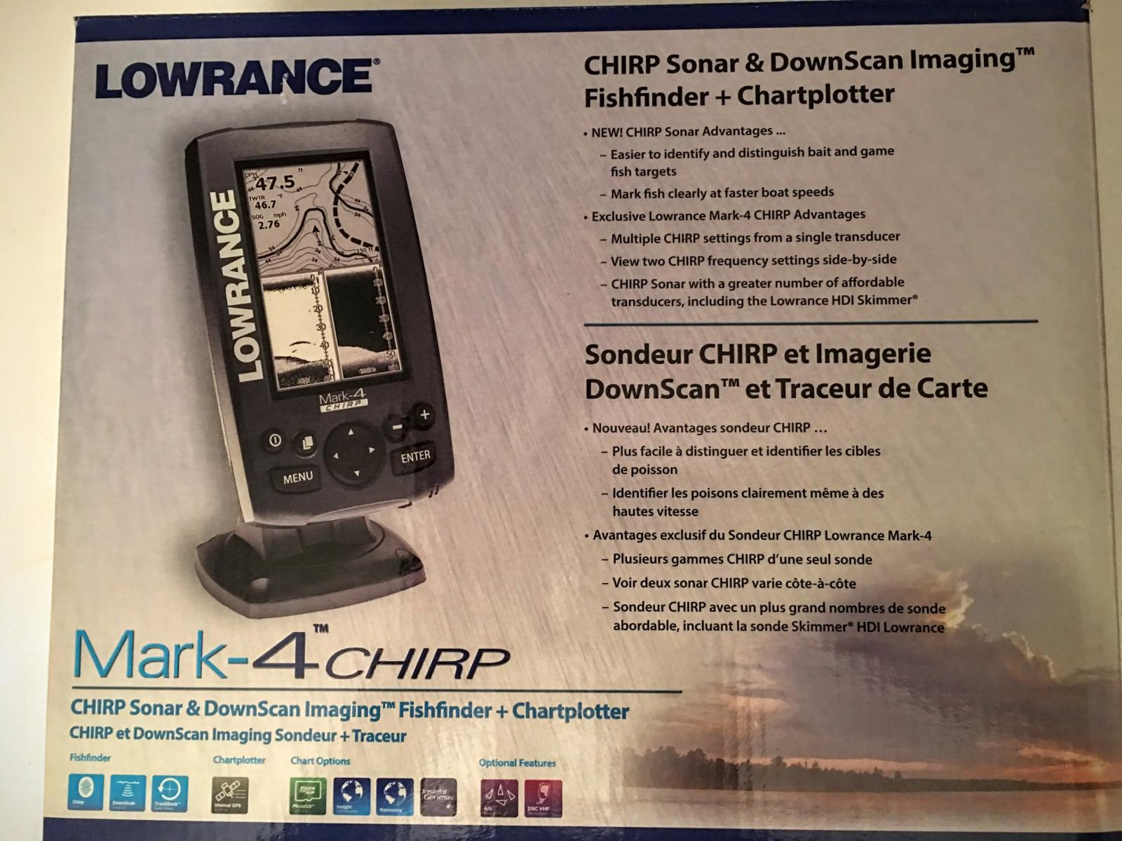Find NEW LOWRANCE MARK-4 CHIRP FISH FINDER / CHARTPLOTTER with