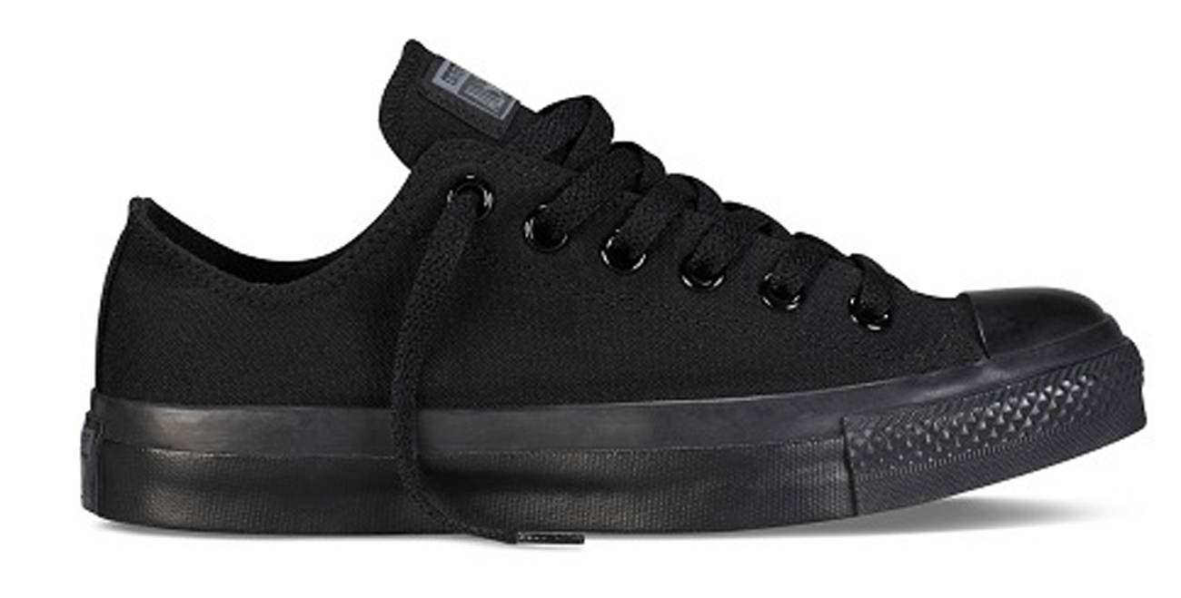 f4386b0fabaf Details about CONVERSE CHUCK TAYLOR ALL STAR OX M5039 CLASSIC BLACK MONO  TRAINERS